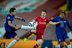 LIVERPOOL, ENGLAND - Thursday, March 4, 2021: Liverpool's Diogo Jota during the FA Premier League match between Liverpool FC and Chelsea FC at Anfield. Chelsea won 1-0 condemning Liverpool to their fifth consecutive home defeat for the first time in the club's history. (Pic by David Rawcliffe/Propaganda)
