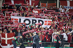November 14, 2017 - Dublin, Ireland - Danish supporters pictured during the FIFA World Cup 2018 Play-Off match between Republic of Ireland and Denmark at Aviva Stadium in Dublin, Ireland on November 14, 2017 Denmark defeats Ireland 5:1. (Credit Image: © Andrew Surma/NurPhoto via ZUMA Press)
