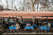 'Melodie' cafe, a popular socialising spot for the Syrian community in Yerevan, Armenia.