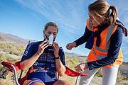 De Velox tijdens de derde racedag. Het Human Power Team Delft en Amsterdam, dat bestaat uit studenten van de TU Delft en de VU Amsterdam, is in Amerika om tijdens de World Human Powered Speed Challenge in Nevada een poging te doen het wereldrecord snelfietsen voor vrouwen te verbreken met de VeloX 8, een gestroomlijnde ligfiets. Het record is met 121,81 km/h sinds 2010 in handen van de Francaise Barbara Buatois. De Canadees Todd Reichert is de snelste man met 144,17 km/h sinds 2016.<br /> <br /> With the VeloX 8, a special recumbent bike, the Human Power Team Delft and Amsterdam, consisting of students of the TU Delft and the VU Amsterdam, wants to set a new woman's world record cycling in September at the World Human Powered Speed Challenge in Nevada. The current speed record is 121,81 km/h, set in 2010 by Barbara Buatois. The fastest man is Todd Reichert with 144,17 km/h.