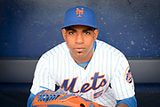 Yoenis Cespedes #52 NY Mets Dugout Portrait at Spring Training in Port St Lucie Florida.