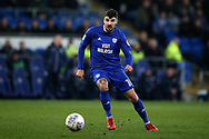 Callum Paterson of Cardiff City in action. EFL Skybet championship match, Cardiff city v Barnsley at the Cardiff city stadium in Cardiff, South Wales on Tuesday 6th March 2018.<br /> pic by Andrew Orchard, Andrew Orchard sports photography.