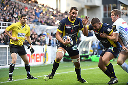 RUGBY - CHAMPIONS CUP - 2017<br /> lapandry (alexandre)<br /> chaume (raphael)<br /> Clermont / Exeter le 21/01/2017<br /> Photo : Pierre Lahalle