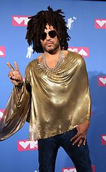 August 20, 2018 - New York City, New York, U.S. - Singer LENNY KRAVITZ  poses for photos in the press room for the 2018 MTV 'VMAS' held at Radio City Music Hall. (Credit Image: © Nancy Kaszerman via ZUMA Wire)