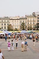 Market Square Rynek glowny in Krakow Poland in September