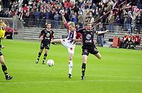 Fotball, 070803, Alfheim/Tromsø/ TIL - Brann/1-0/ Ole Martin Årst (TIL) og Egil Ulfstein (Brann)<br /> FOTO: KAJA BAARDSEN/DIGITALSPORT