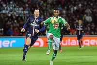 Kevin THEOPHILE CATHERINE - 25.01.2015 - Saint Etienne / PSG  - 22eme journee de Ligue1<br />Photo : Jean Paul Thomas / Icon Sport