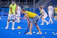 TOKIO - Craig Fulton  (Bel) voor de hockey finale mannen, Australie-Belgie (1-1), België wint shoot outs en is Olympisch Kampioen,  in het Oi HockeyStadion,   tijdens de Olympische Spelen van Tokio 2020. COPYRIGHT KOEN SUYK
