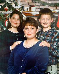 21 May 2015. Laurel, Mississippi.<br /> Collect photos of plus size model Tess Holliday (formerly known as Tess Munster, née Ryann Hoven) in her formative years from a family album. Tass and brother Tad Hoven with mother Beth.<br /> Photo credit; Tadlock via Varleypix.com