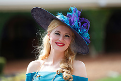 November 3, 2017 - San Diego, CA, USA - Eva Slavek looks on during the Breeders' Cup at the Del Mar Thoroughbred Club on Friday, Nov. 3, 2017.  (Photo by K.C. Alfred/The San Diego Union-Tribune (Credit Image: © K.C. Alfred/San Diego Union-Tribune via ZUMA Wire)