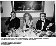 Liam Neeson, Alex Kingston and  Ralph Fiennes  at Steve Tisch &  Vanity Fair's Oscar Night Party,<br />Mortons,  Los Angeles. March 1994.  Film 94567/7<br /> <br />© Copyright Photograph by Dafydd Jones<br />66 Stockwell Park Rd. London SW9 0DA<br />Tel 0171 733 0108.