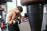 """Boxen: EC Boxing, Hamburg, 28.06.6219<br /> Schwergewicht: Alexander """"Sascha"""" Dimmitrenko (GER) beim Training<br /> © Torsten Helmke"""
