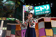 Shinjuku Ward Council representative and transgender-activist,  Karen Yoda speaks at the Unite For Our Future event. Shinjuku, Tokyo, Japan. Saturday October 23rd 2021. In an effort to unseat the ruling LDP (Liberal Democratic Party) in the October 31st Lower House election called by Japan's new Prime Minister, Fumio Kishida, the main, left-leaning opposition parties have decided to campaign together and not field candidates against each other.