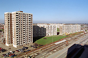 15/02/2003<br />The Ballymun Flats area under development, the government are knocking down the highrise towers and making way for lowrise developments.<br />Photo:Susan Kennedy/Lensmen *** Local Caption *** It is important to note that under the COPYRIGHT AND RELATED RIGHTS ACT 2000 the copyright of these photographs are the property of the photographer and they cannot be copied, scanned, reproduced or electronically stored in any form whatsoever without the written permission of the photographer