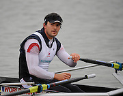 Caversham, Great Britain,   Simon FIELDHOUSE, at the Redgrave Pinsent Rowing Lake. GB Rowing Training centre. Wed. 20.04.2008  [Mandatory Credit. Peter Spurrier/Intersport Images] Rowing course: GB Rowing Training Complex, Redgrave Pinsent Lake, Caversham, Reading