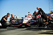 24-26 August, 2012, Sonoma, California USA.Will Power (12) pitstop practice .(c)2012, Jamey Price.LAT Photo USA