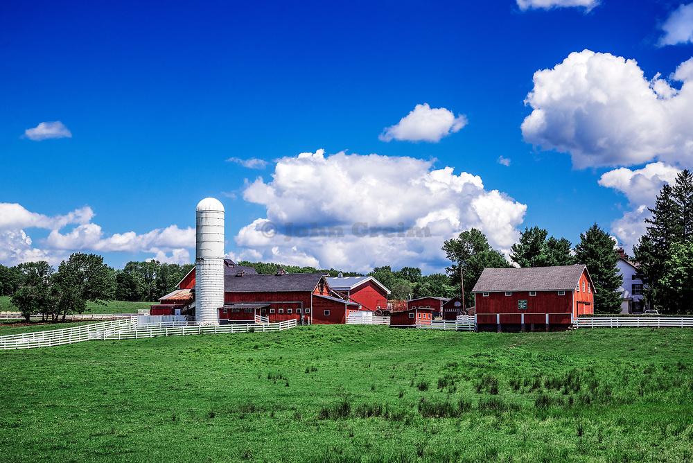 Quaint horse farm in rural Gladstone New Jersey, USA