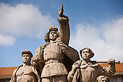 Statue of workers outside Mao's Mausoleum, Tian'an Men Square, Beijing, China