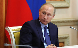 October 13, 2017 - Voronezh, Russia - October 13, 2017. - Russia, Voronezh. - Russian President Vladimir Putin at a meeting on agriculture development. (Credit Image: © Russian Look via ZUMA Wire)