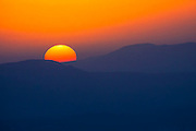 Sunset Photographed at Golan Heights, Israel