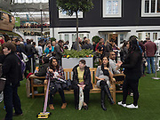 IN BACKGROUND ' TRADITIONALLY BRITISH HOME, Ideal Home Show, sponsored by Zoopla, Olympia. London. 19 March 2016