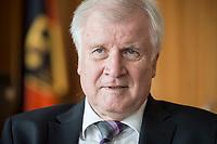 20 JUN 2018, BERLIN/GERMANY:<br /> Horst Seehofer, CSU, Bundesinnenminister, waehrend einem Interview, in seinem Buero, Bundesministerium des Inneren<br /> IMAGE: 20180620-02-035<br /> KEYWORDS: Büro