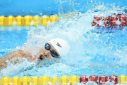 JAKARTA, Aug. 19,2018  Chinese swimmer Zhu Menghui competes in the women's 4x100m Freestyle Relay final of the 18th Asian Games in Jakarta, Indonesia, Aug. 19, 2018. (Credit Image: © Li Xiang/Xinhua via ZUMA Wire)