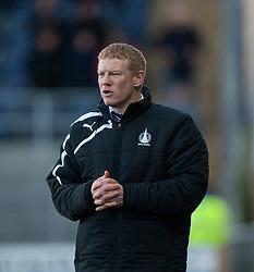 Falkirk's manager Gary Holt.<br /> Falkirk 0 v 0 Hamilton, Scottish Championship game at The Falkirk Stadium. © Michael Schofield 2014.