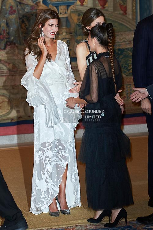 Juliana Awada, Martina Stoessel host a reception at the El Pardo Palace on February 23, 2017 in Madrid, Spain