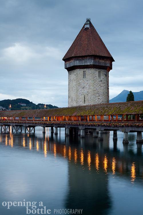 Water Tower of the Chapel Bridge, Lucerne, Switzerland