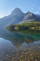 Kinnerly Upper Peak Kintla Lake. Glacier National Park Montana
