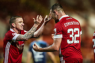 GOAL 3-0 Aberdeen forward Ryan Edmondson (32) during the Scottish Premiership match between Aberdeen and Hamilton Academical FC at Pittodrie Stadium, Aberdeen, Scotland on 20 October 2020.