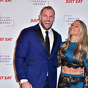 James Haskell,Chloe Madeley attend the British Takeaway Awards 2020 on 27th January 2020, Savoy Hotel, Strand, London, UK.