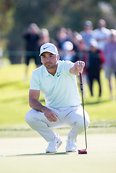 January 27, 2019 - San Diego, CA, U.S. - SAN DIEGO, CA - JANUARY 27: Jason Day during the final round of the Farmers Insurance Open at Torrey Pines Golf Club on January 27, 2019 in San Diego, California. (Photo by Alan Smith/Icon Sportswire) (Credit Image: © Alan Smith/Icon SMI via ZUMA Press)