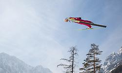 23.03.2013, Planica, Kranjska Gora, SLO, FIS Ski Sprung Weltcup, Skifliegen, Team, Probedurchgang, im Bild Kamil Stoch (POL) // Kamil Stoch of Poland during his trial jump of the FIS Skijumping Worldcup Team Flying Hill, Planica, Kranjska Gora, Slovenia on 2013/03/23. EXPA Pictures © 2012, PhotoCredit: EXPA/ Juergen Feichter