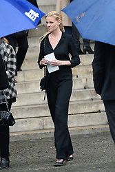 Lara Stone leaving the funeral service for late photographer Peter Lindbergh held at Saint Sulpice church in Paris, France on September 24, 2019. Photo by ABACAPRESS.COM
