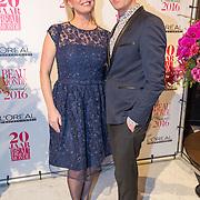 NLD/Amsterdam/20160118 -  Beau Monde Awards 2016, Bridget Maasland en Theo Hopman