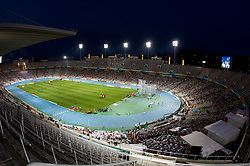 Olympic stadium at night during day two of the 20th European Athletics Championships at the Olympic Stadium on July 28, 2010 in Barcelona, Spain. (Photo by Vid Ponikvar / Sportida)