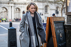 © Licensed to London News Pictures. 12/02/2020. London, UK. Labour Party leadership contender. Rebecca Long-Bailey in Westminster. The candidates to become the next Labour Party leader will take part in a TV debate this evening. Photo credit: Rob Pinney/LNP