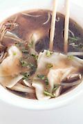 Japanese Miso soup with dumplings