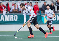 AMSTELVEEN - Nicki Leijs (Amsterdam) , tijdens de    hoofdklasse hockeywedstrijd mannen,  AMSTERDAM-PINOKE (1-3) , die vanwege het heersende coronavirus zonder toeschouwers werd gespeeld. COPYRIGHT KOEN SUYK