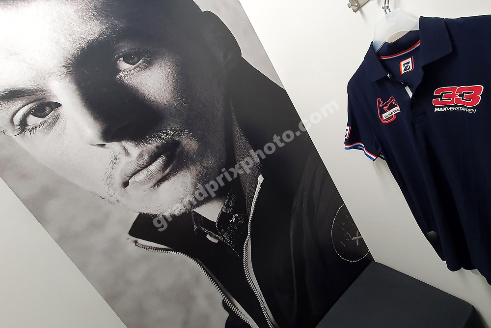 Inside the Max Verstappen Store (Red Bull-Honda) in Swalmen near Roermond before the 2021 Russian Grand Prix at Sochi. Photo: Grand Prix Photo/ Michael Stirnberg