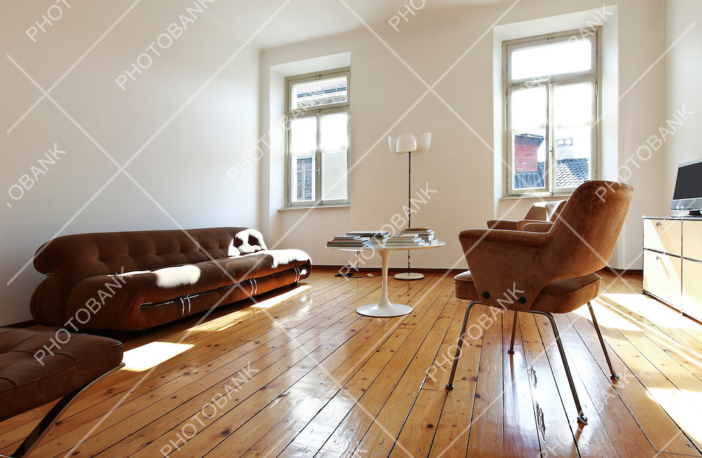 interior beauty and old apartment with parquet