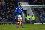 Portsmouth Forward, Brett Pitman (8) scorer of the opening goal 1-0 during the EFL Sky Bet League 1 match between Portsmouth and Southend United at Fratton Park, Portsmouth, England on 18 November 2017. Photo by Adam Rivers.