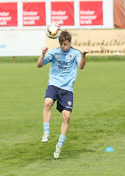 08.07.2015, Sportplatz, Bad Haering, AUT, Trainingslager, TSV 1860 Muenchen, im Bild Richard Neudecker (TSV 1860 Muenchen) mit dem Kopfball im Trainingslager // during a Trainingssession of German 2nd Bundesliga Club TSV 1860 Munich at the Sportplatz in Bad Haering, Austria on 2015/07/08. EXPA Pictures © 2015, PhotoCredit: EXPA/ Eibner-Pressefoto/ Fudisch<br /> <br /> *****ATTENTION - OUT of GER*****
