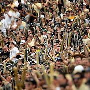 UCF fans packed the stadium for the second ever sellout during an NCAA football game between the South Carolina Gamecocks and the Central Florida Knights at Bright House Networks Stadium on Saturday, September 28, 2013 in Orlando, Florida. (AP Photo/Alex Menendez)