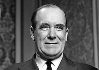 Lord Caradon, Life Peer, aka Hugh Foot, UK Permanent Representative at the United Nations. 196801000028b.<br /> <br /> Copyright Image from Victor Patterson,<br /> 54 Dorchester Park, Belfast, UK, BT9 6RJ<br /> <br /> t1: +44 28 90661296<br /> t2: +44 28 90022446<br /> m: +44 7802 353836<br /> <br /> e1: victorpatterson@me.com<br /> e2: victorpatterson@gmail.com<br /> <br /> For my Terms and Conditions of Use go to<br /> www.victorpatterson.com