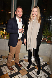 Tallulah Riley and Oliver ? at The Ivy Chelsea Garden's Annual Summer Garden Party, The Ivy Chelsea Garden, 197 King's Road, London England. 9 May 2017.<br /> Photo by Dominic O'Neill/SilverHub 0203 174 1069 sales@silverhubmedia.com