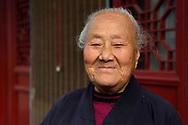 "Taoist Nun, 96 years old, Manager of the Temple Qingniu Dongtian ""green Buffalo Cave Heaven"", Taibaishan nature reserve, Shaanxi, China"