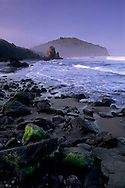 Morning light over Trinidad Head, Trinidad State Beach, Humboldt County, California